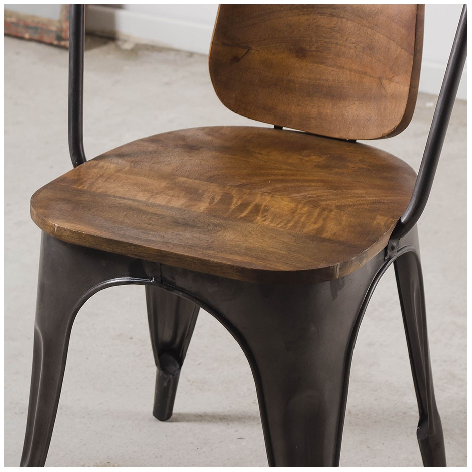 Chaise style industriel bistrot