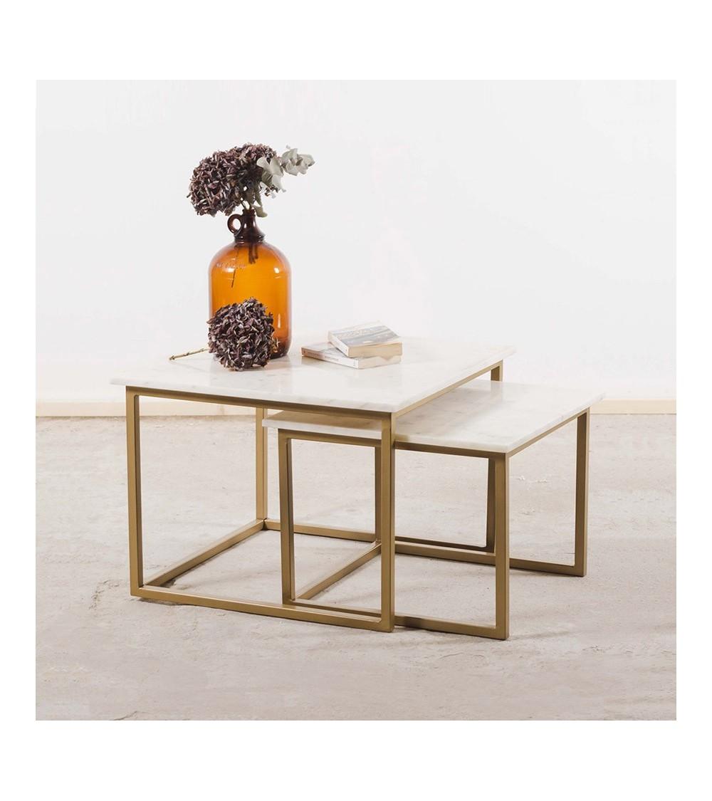 """tables """"gigogne"""" carrées art déco"""