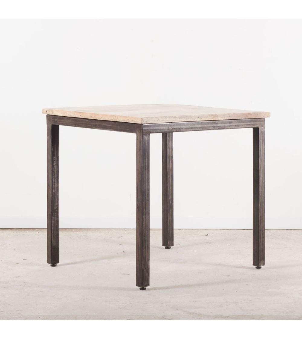 Table à manger carrée industrielle