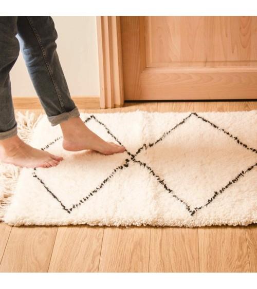 Petit tapis berbère losanges