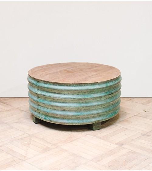 Table tonneau métal
