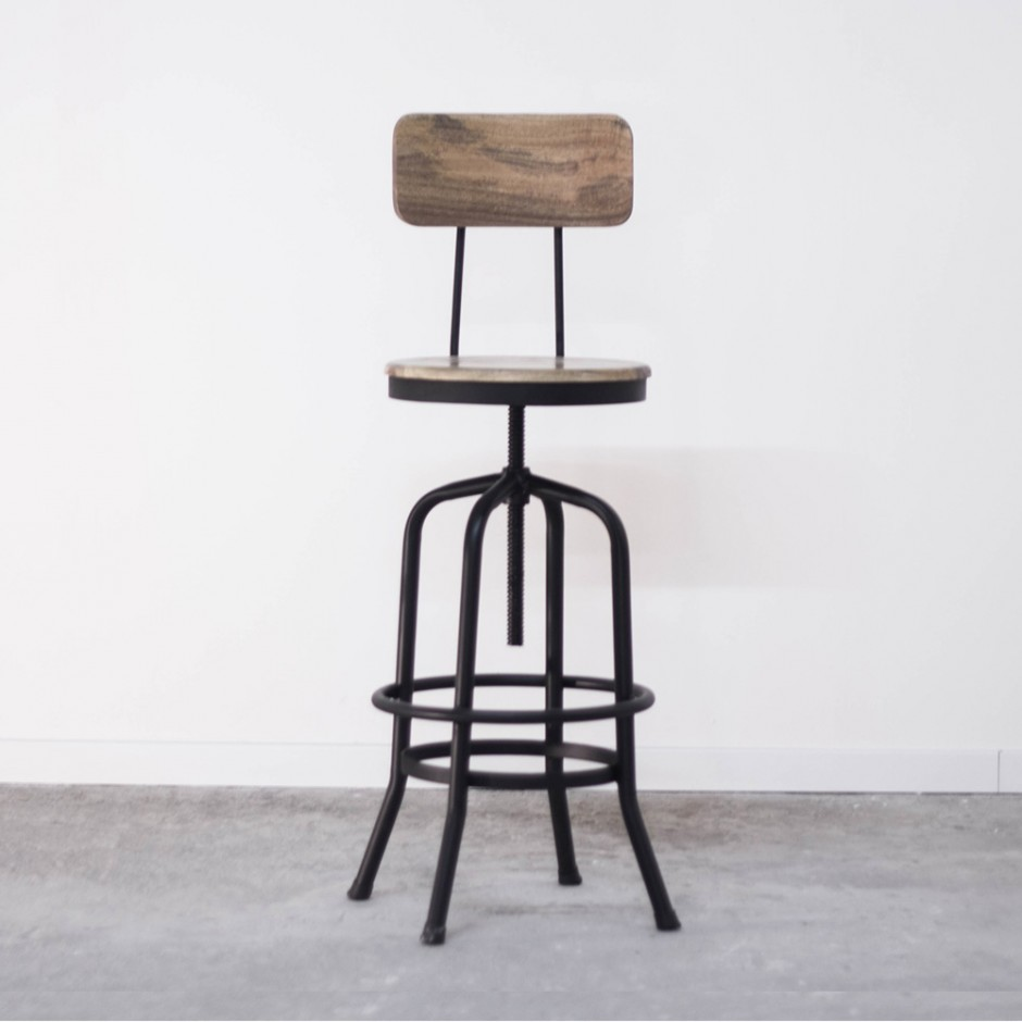 bar industriel amazing tabouret de bar industriel vieux bois loading zoom with bar industriel. Black Bedroom Furniture Sets. Home Design Ideas