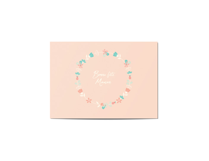 Carte gratuite fleurie fête des mères